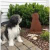 Deko Hund Bobtail - Bobby - mit Standplatte