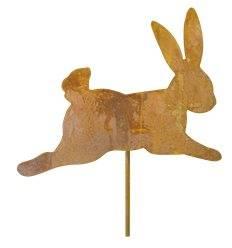 hüpfendes Kaninchen als Stecker - Länge 20 cm - Stab 40 cm