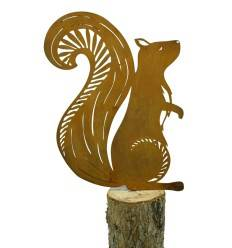 Eichhörnchen mit Schraube für Zäune, Bäume, Äste etc.