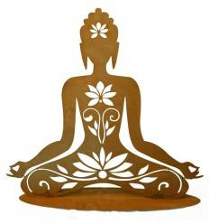 Edelrost Figur Hindu-Göttin, 56 cm hoch und 60 cm breit