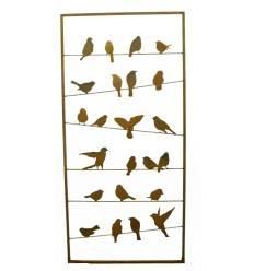 Vogel Paravent Bird 190cm x 90xm - Sichtschutz Metall