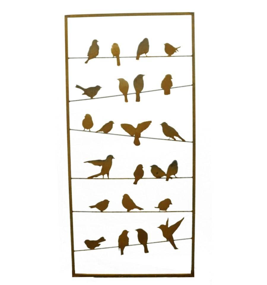 Edelrost Vogel Paravent Bird Metall Rost Sichtschutz Online Kaufen