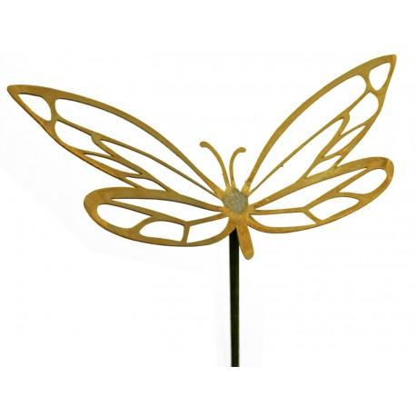 Schmetterling mit Ausschnitten, Breite 32 cm, auf Stab