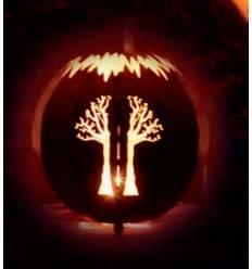 Kugelleuchte Baum Ø 30 cm in Edelrost