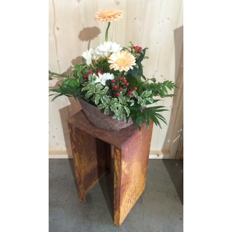 Blumenständer Rostig für Blumentöpfe