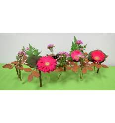 Tischdekoständer Blätter inkl. 10 Reagenzgläser - Länge 60 cm - Breite 24 cm