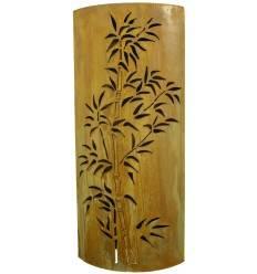 Bambus Rostsäule in Mandelform - Höhe 100 cm - Breite 50 cm