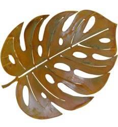 Edelrost Philoblatt, leicht gebogen - Länge 40 cm