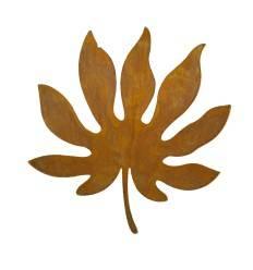 Edelrost Aralienblatt, leicht gebogen - Länge 30 cm