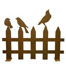 Vogelzaun 100 cm breit  auf Platte 3mm Stahl 2 Varianten