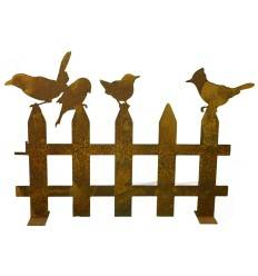Vogelzaun 100 cm breit 70 cm hoch auf Platte, 3mm Stahl, Variante 2
