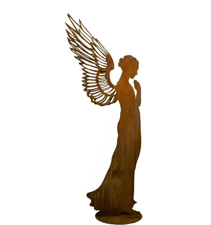Edelrost engel santine 130 cm rostdeko vom metallmichl for Engel edelrost