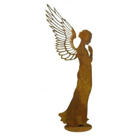 Engelfigur Metall als Weihanchtsengel in betender Haltung - Santine
