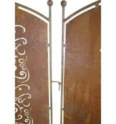 8-eck pilier ange Edelrost Rouille Métal Gartendeko Jardin STELE Ange Gardien