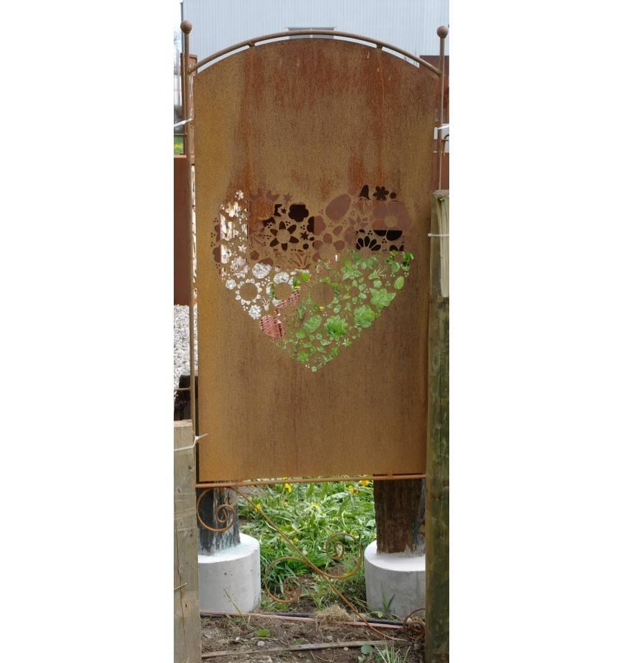 Paravent blumengarten 190 cm hoch metallmichl - Sichtschutzwande aus stein ...