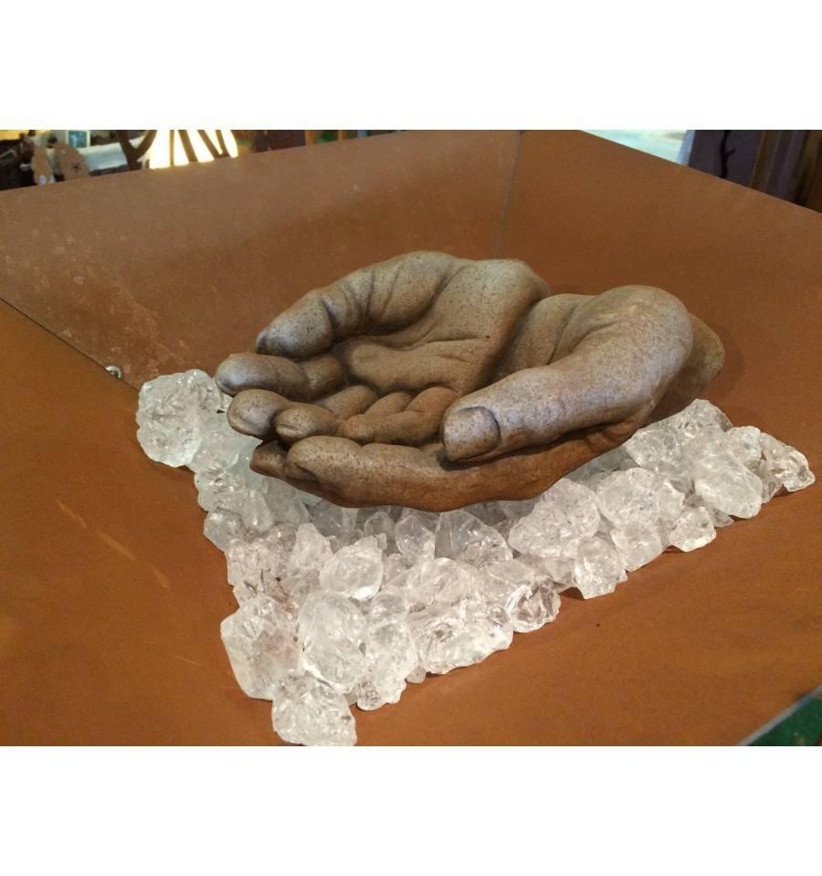 steinguss m nnerh nde 10 cm hoch. Black Bedroom Furniture Sets. Home Design Ideas