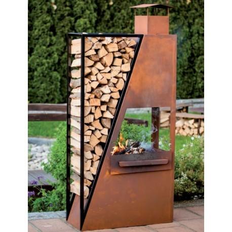Kaminofen BarbecueStartRoot-Metallmichl aus Edelrost ...
