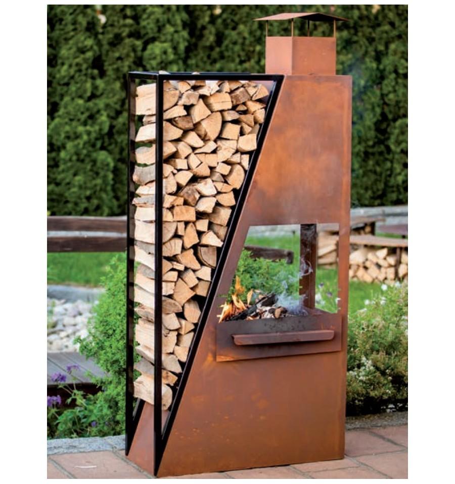 kaminofen barbecuestartroot metallmichl aus edelrost. Black Bedroom Furniture Sets. Home Design Ideas