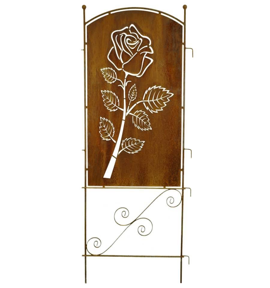 Paravent rose 190 cm hoch metallmichl - Sichtschutzwande aus stein ...