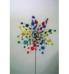 Windrad mit verschieden farbigen Schaufeln, Ø 65 cm