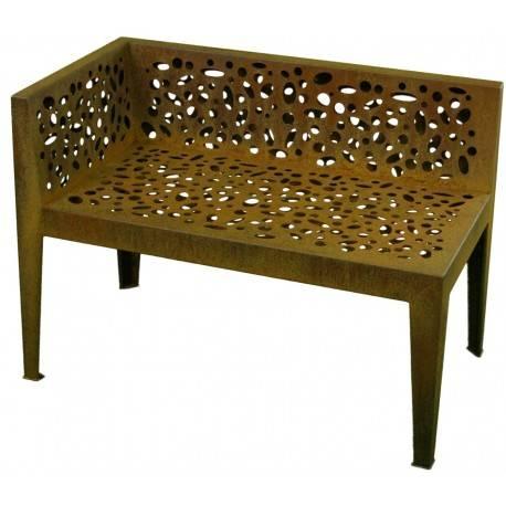 gartenbank 2 sitzer 39 topical 39 edelrost h he 70 cm. Black Bedroom Furniture Sets. Home Design Ideas