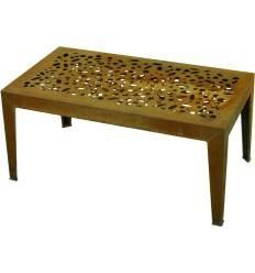 Gartentisch 'Topical', Edelrost, Höhe 46 cm, Tischfläche 53 x 98 cm