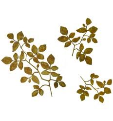 Blätter an Ast, 3er Set