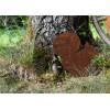 Deko Eichhörnchen Metall Landhausdeko Rostig