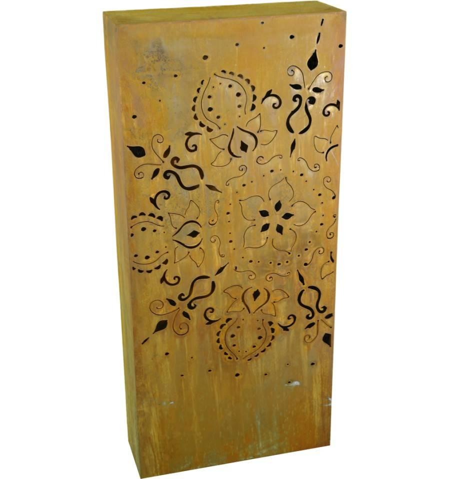 rost eckige s ule mandala h he 100 cm breite 50 cm. Black Bedroom Furniture Sets. Home Design Ideas
