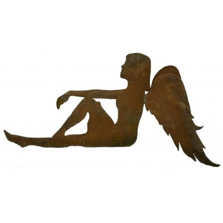 """sitzender Engel """"Anna"""" freistehend, Höhe 15cm Länge 33 cm"""