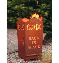 "FEUERKORB ACDC – BACK IN BLACK"" ECKIG 67 cm hoch"
