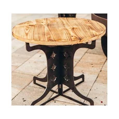 edelrost stuhl zur feuerstelle industrie 42 cm hoch 50 cm. Black Bedroom Furniture Sets. Home Design Ideas