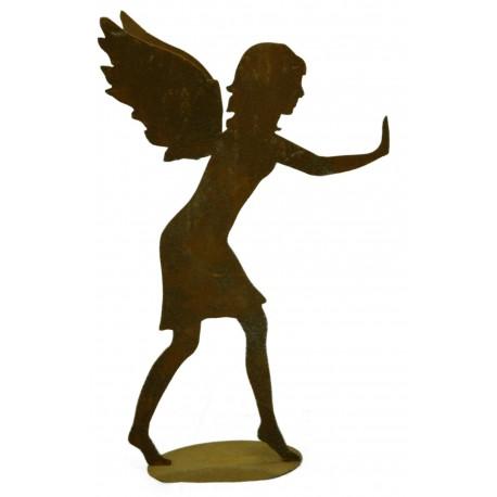 """schiebender Engel """"Mia"""" auf Platte, Höhe 66 cm, Breite 38 cm"""