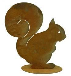 Eichhörnchen Squirrel 21 cm auf Platte