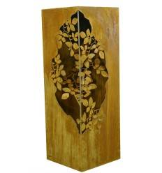 Säule mit Blätterranken innen, 100 cm hoch, 35 x 35 cm