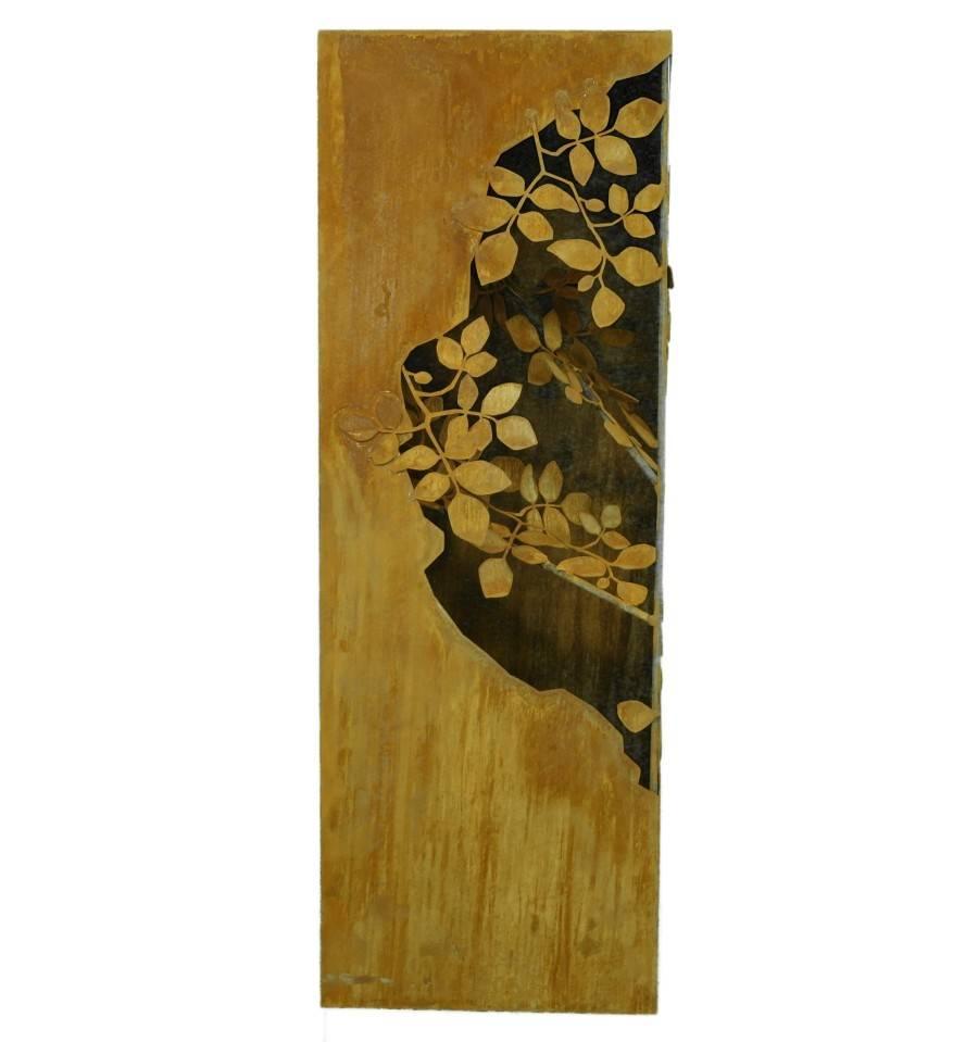 S ule mit bl tternranken innen 100 cm hoch 30 x 30 cm for Wohnzimmertisch 30 cm hoch