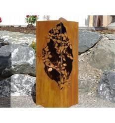 ... Säule Mit Blätterranken Innen, 120 Cm Hoch, 35 X 35 Cm
