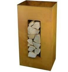 Holzregal zum Bepflanzen, hochkant, Höhe 100 cm
