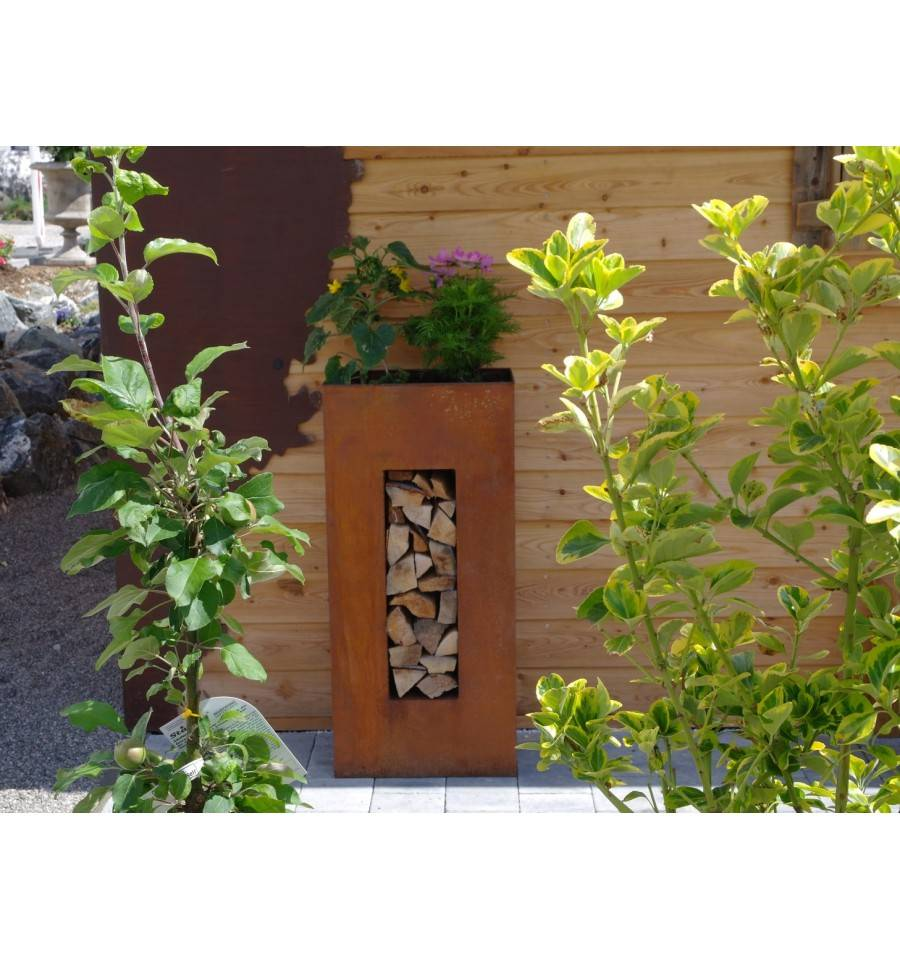 Holzregal zum bepflanzen hochkant h he 100 cm for Gartendeko zum bepflanzen