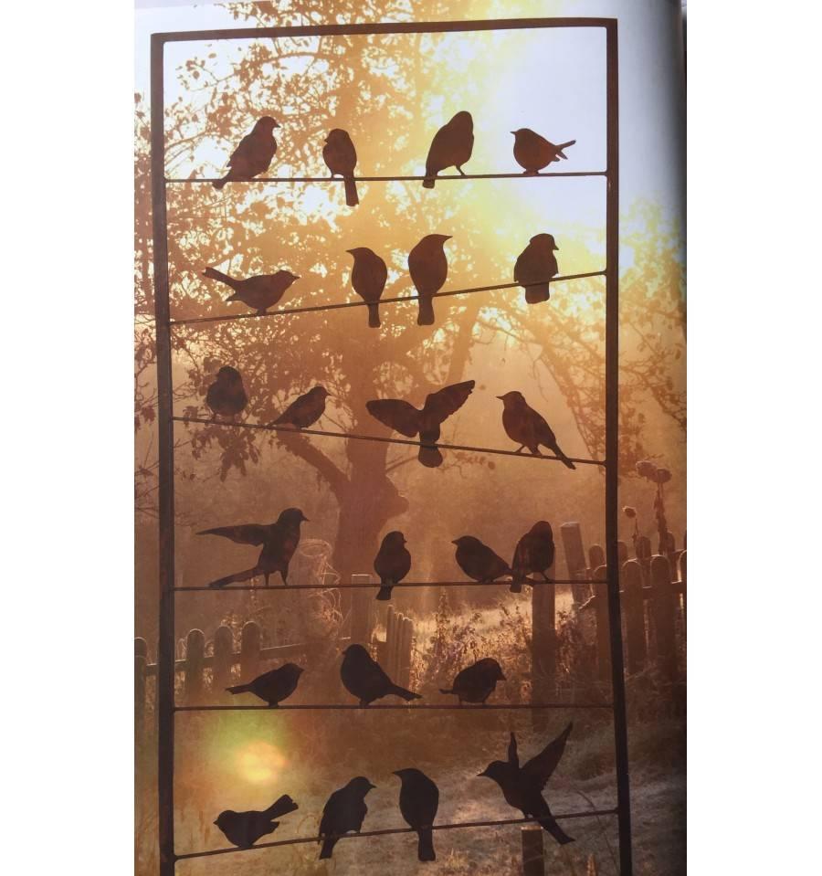 Edelrost vogel paravent bird - Sichtschutzwande aus stein ...