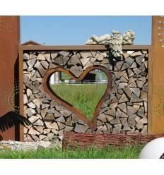 Rahmen für Holzbeige Holzstapel Holz stapeln Holzstoss Rechteck Bausatz / auch als Sichtschutz
