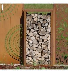 Holzlege Rechteck klein schmal, Bausatz / Sichtschutz Höhe 120 cm, Breite 60 cm