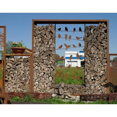Holzlege Rechteck quadratisch, Bausatz / Sichtschutz Höhe 220 cm, Breite 220 cm