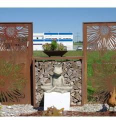 Holzlege Quadrat Bausatz / Sichtschutz Höhe 120 cm, Breite 120 cm