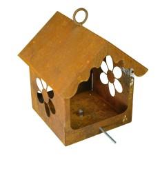 Blumen Vogelhaus zum Hängen oder zum Stecken, Höhe 30 cm - Vogelfutterhaus