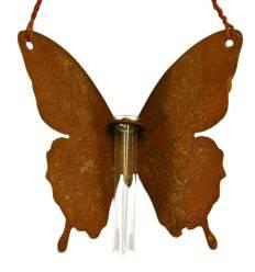 """Schmetterling """"Mariposa"""" zum Hängen mit Reagenzglas-Halter - Höhe 15 cm - Breite 20 cm"""