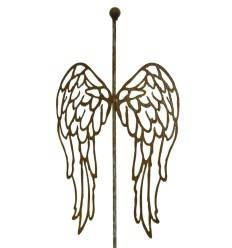 """""""Ala"""" Flügelpaar nach unten - mit Stab und Kugel, Höhe 47 cm"""