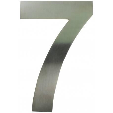 Edelstahl Zahl '7' mit Magnet, 19 cm