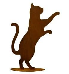 Neugierige Katze groß 50 cm hoch auf Platte