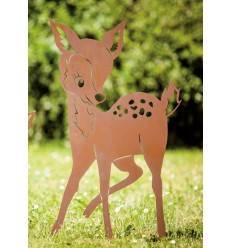 Edelrost Rehkitz Bambi 70 cm hoch